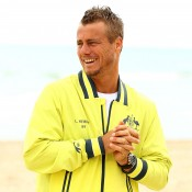 Lleyton Hewitt at the official draw ceremony for the Australia v Uzbekistan Davis Cup World Group Play-off tie in Perth; Getty Images