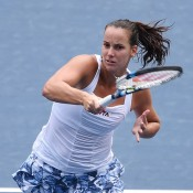 Jarmila Gajdosova in action at the WTA Toray Pan Pacific Open in Tokyo, Japan; Getty Images