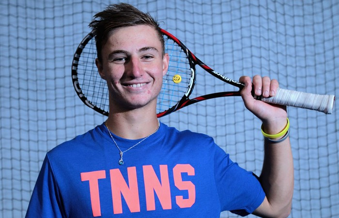 Omar Jasika poses for photos during a media opportunity at Melbourne Park's National Tennis Centre on September 16, 2014; Robert Prezioso/Getty Images