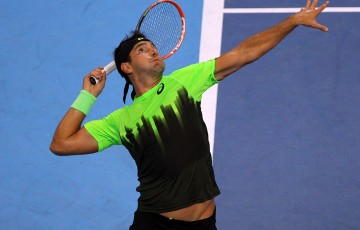 Australia's Marinko Matosevic serves during his first round win over compatriot Marinko Matosevic at the ATP Malaysian Open in Kuala Lumpur; Getty Images
