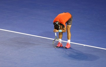 Rafael Nadal, Australian Open, 2014, Melbourne. GETTY IMAGES