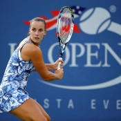 Jarmila Gajdosova in action during her first round loss to 27th seed Madison Keys at the US Open; Getty Images