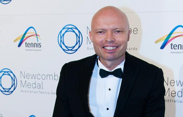 David Hall, Newcombe Medal, Australian Tennis Awards, 2013. MAE DUMRIGUE