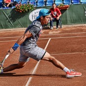Jason Kubler in action at the 2014 Sibiu Open ATP Challenger event; Silvana Armat/Sibiu Open