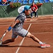 Jason Kubler in action at the 2014 Sibiu Open ATP Challenger event; Silvana Armat/Sibiu Open