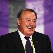 John Newcombe during a press conference at Wimbledon 2014; Getty Images