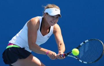 Rebecca Peterson in action in the girls' junior event at Australian Open 2013; Getty Images