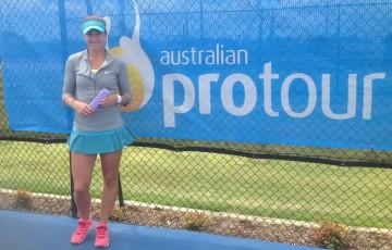Perth Tennis International 2014 champion Rebecca Peterson of Sweden; Perth Tennis International