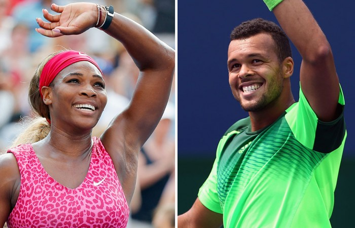 Serena Williams (L) and Jo-Wilfried Tsonga will play at Hopman Cup 2015; Getty Images