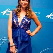 Ajla Tomljanovic on the blue carpet at the 2014 Newcombe Medal Australian Tennis Awards; Elizabeth Xue Bai