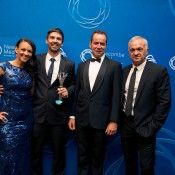 Most Oustanding Club - Morningside Tennis Club (QLD): Mark Bloomfield (second from left) and Rob Daley (second from right) with Casey Dellacqua (L) and Wally Masur; Elizabeth Xue Bai
