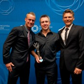 Coaching Excellence - High Performance: Shannon Nettle (centre) with Lleyton Hewitt (L) and Peter Luczak; Elizabeth Xue Bai