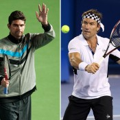 Mark Philippoussis (L) and Pat Cash; Getty Images