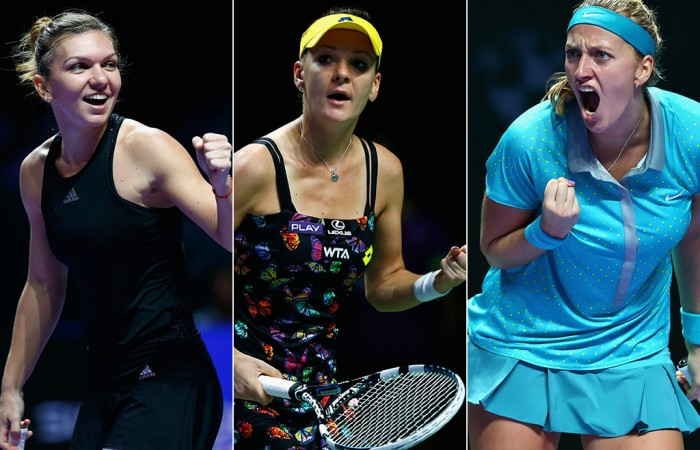 (L-R) Simona Halep, Agnieszka Radwanska and Petra Kvitova will contest Apia International Sydney 2015; Getty Images