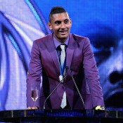 Nick Kyrgios speaks after winning the 2014 Newcombe Medal; Getty Images