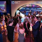 Patrons on the dancefloor at the 2014 Newcombe Medal Australian Tennis Awards; Fiona Hamilton