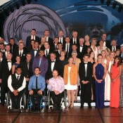 All Australian tennis players past and present gather for the annual Newcombe Medal Australian Tennis Awards tennis community photo; Fiona Hamilton