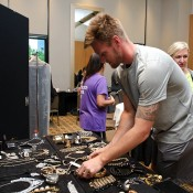 Sam Groth browses the jewellery options for girlfriend Brittany ahead of the Newcombe Medal; Elizabeth Xue Bai