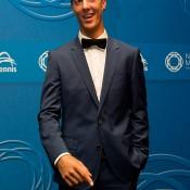 Thanasi Kokkinakis on the blue carpet at the 2014 Newcombe Medal Australian Tennis Awards; Elizabeth Xue Bai
