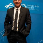 Wally Masur on the blue carpet at the 2014 Newcombe Medal Australian Tennis Awards; Elizabeth Xue Bai