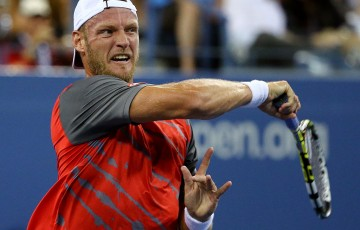Sam Groth was outside the world's top 150 to start the year and dipped as low as No.176 in March, yet flourished - thanks to a Challenger title, qualifying for WImbledon, reaching the ATP semis in Newport and the second round at Flushing Meadows - to crack the top 80 in November. He peaked at 75th; Getty Images
