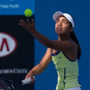 Annerly Poulos in action during the semifinals of the 16/u Australian Championships; Jason Lockett
