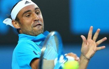 Marcos Baghdatis in action at Australian Open 2014; Getty Images