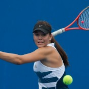 Aleksa Cveticanin in action during the 2014 16/u Australian Championships; Elizabeth Xue Bai