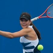 Aleksa Cveticanin in action during the 2014 16/u Australian Championships; Elizabeth Xue Bai