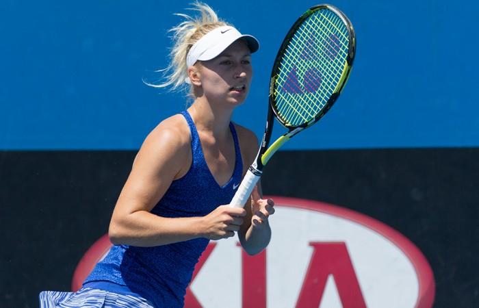 Daria Gavrilova in action during the semifinals of the Australian Open 2015 Play-off; Jason Lockett