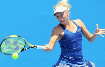 Daria Gavrilova in action during the Australian Open 2015 Play-off; Getty Images