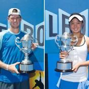 2014 18/u Australian Championships winners Harry Bourchier (L) and Olivia Tjandramulia; Getty Images