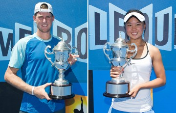 2014 18/u Australian Championships winners Harry Bourchier (L) and Olivia Tjandramulia; Getty Images
