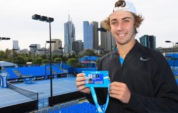 Jordan Thompson, winner of the men's Australian Open 2014 Wildcard Play-off at Melbourne Park; Getty Images