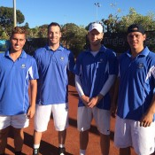 Royal South Yarras members (L-R) Dane Propoggia, Adam Hubble, Luke Saville and Alex Bolt; Tennis Australia