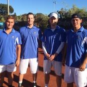 Royal South Yarras members (L-R) Dane Propoggia, Adam Hubble, Luke Saville and Alex Bolt; Tennis Australia