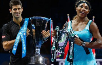 Novak Djokovic (L) and Serena Williams, world No.1s and the reigning ATP and WTA Finals champions, will headline the fields at Australian Open 2015; Getty Images
