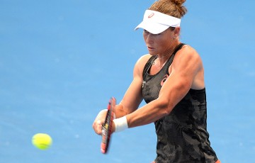 Sam Stosur trains ahead of the 2015 Brisbane International; Getty Images