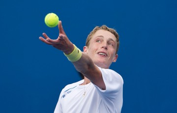 Marc Polmans needed his best tennis to book a place in the 18/u Australian Championships; Elizabeth Xue Bai