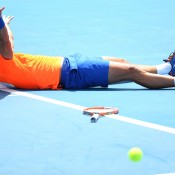 MELBOURNE, AUSTRALIA - JANUARY 19:  Marinko Matosevic of Australia celebrates winning his first round match against Alexander Kudryavtsev of Russia during day one of the 2015 Australian Open at Melbourne Park on January 19, 2015 in Melbourne, Australia.  (Photo by Quinn Rooney/Getty Images)