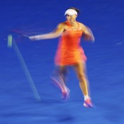 MELBOURNE, AUSTRALIA - JANUARY 22:  Samantha Stosur of Australia plays a forehand in her second round match against Coco Vandeweghe of the United States during day four of the 2015 Australian Open at Melbourne Park on January 22, 2015 in Melbourne, Australia.  (Photo by Scott Barbour/Getty Images)