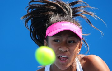 Destanee Aiava in action during the Australian Open 2015 Junior Championships at Melbourne Park on January 25, 2015 in Melbourne, Australia.