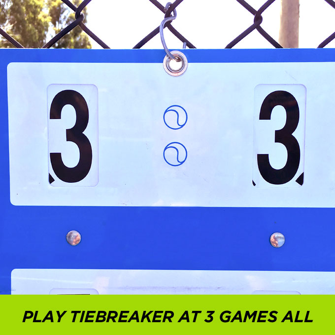 Play Tiebreaker At 3 Games All