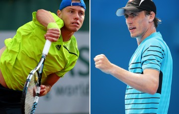 James Duckworth (L) and John Millman have received Brisbane International 2015 wildcards; Getty Images