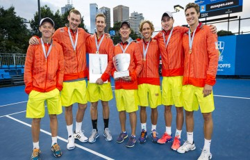 Melbourne, AUSTRALIA. 27th January 2015. Asia Pacific Tennis League at Melbourne Park.
