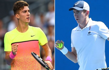Thanasi Kokkinakis (L) and John-Patrick Smith have qualified for the ATP event in Delray Beach; Getty Images