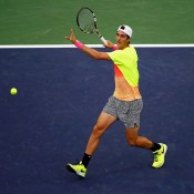 Thanasi Kokkinakis in action during his fourth-round loss to compatriot Bernard Tomic at the 2015 BNP Paribas Open in Indian Wells, California; Getty Images