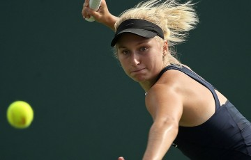 Daria Gavrilova in action at the Miami Open; Getty Images