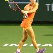 Sam Stosur in action during her second-round win over American Taylor Townsend at the BNP Paribas Open at Indian Wells; Grace Donnelly/BNP Paribas Open