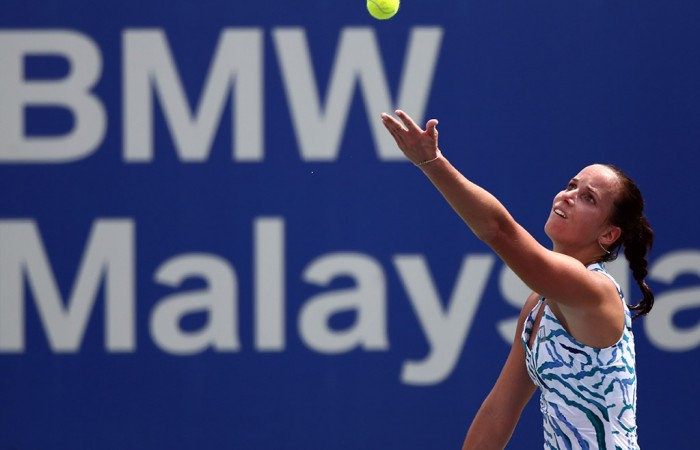 Jarmila Gajdosova in action at the WTA Malaysian Open in Kuala Lumpur; Getty Images